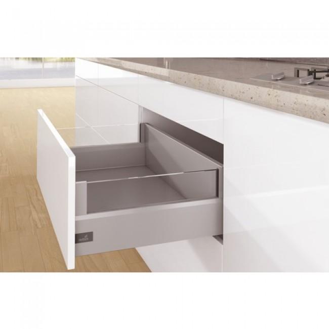 Kit tiroir DesignSide ArciTech-profil H126mm-dos H218mm-argent HETTICH