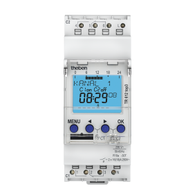 Interrupteur horaire digital - programmable 2 canaux - TR612 top3 THEBEN