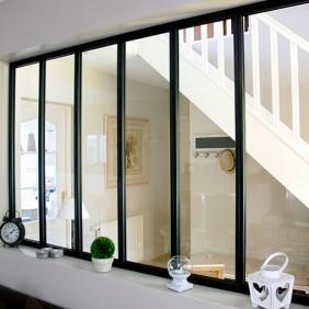 Kit verrière intérieure avec vitrage - 6 panneaux - 108 x 183,2 cm Kit Atelier