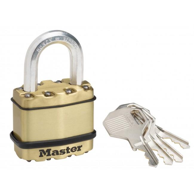 Cadenas à clé - acier laminé - 45 mm de large - anse haute de 24 mm MASTER LOCK