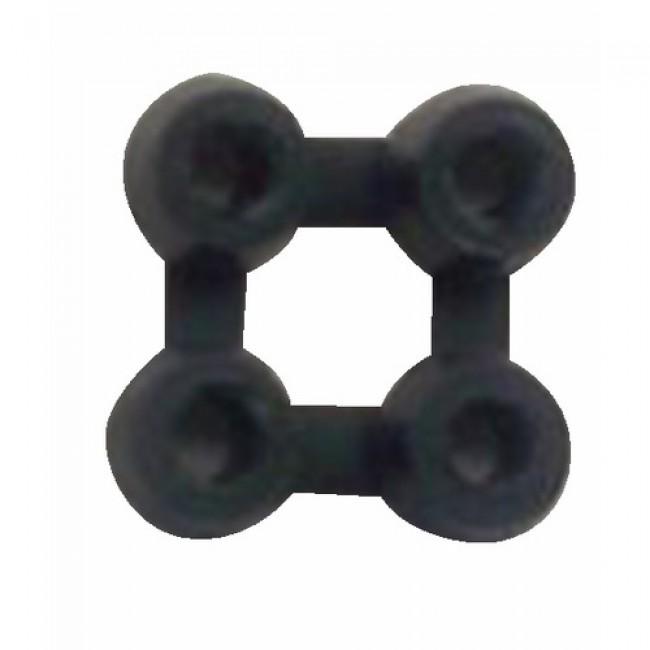 Jonction 4 points - pour caillebotis caoutchouc 19 mm BTB
