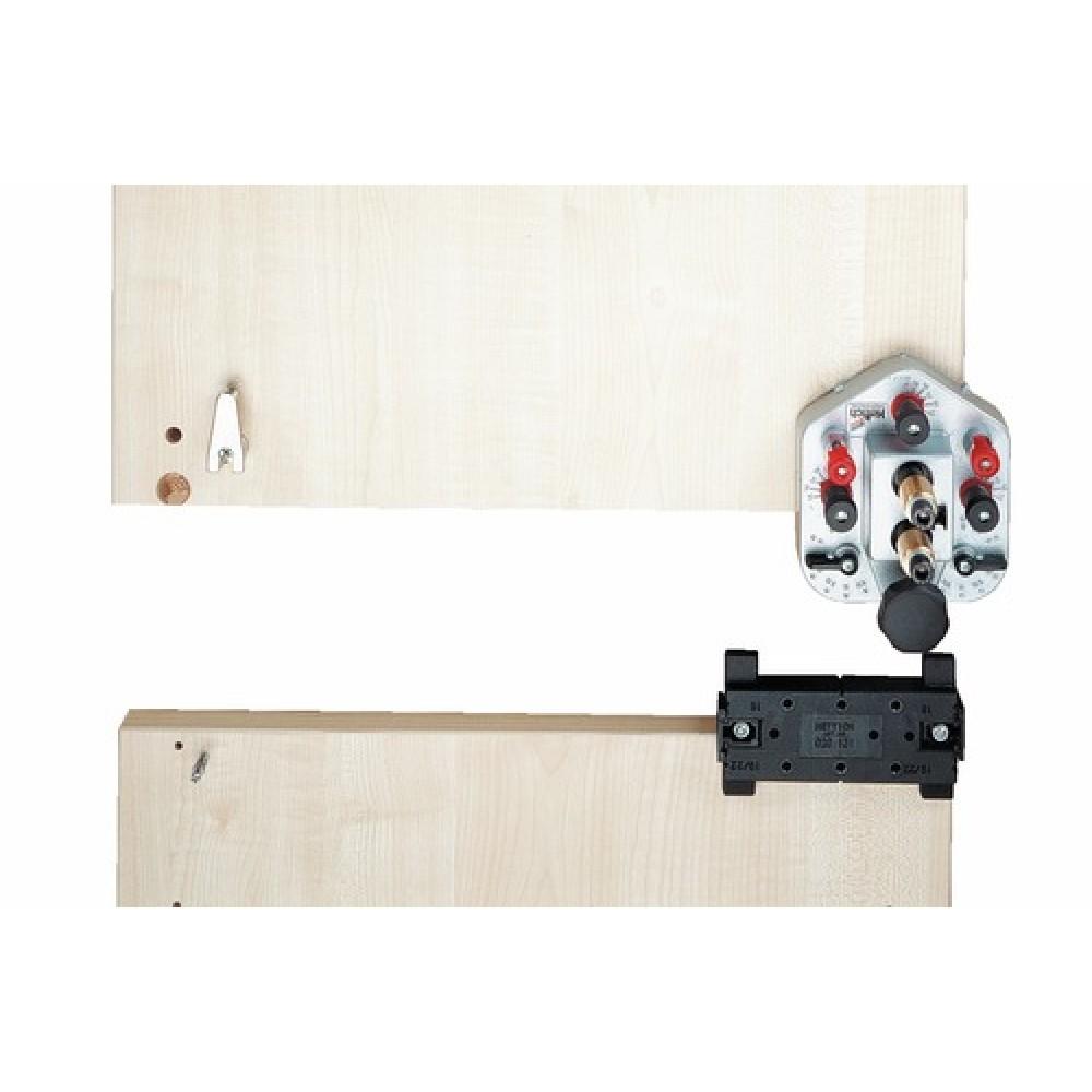 drill jig vb gabarit de per age pour ferrures d 39 assemblage excentrique hettich bricozor. Black Bedroom Furniture Sets. Home Design Ideas