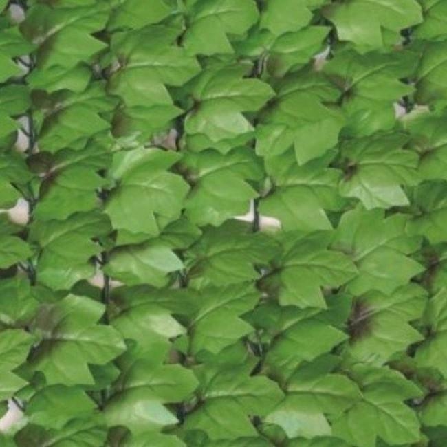 Haie artificielle feuilles de lierre + 12 attaches JET7GARDEN