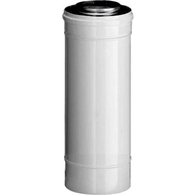 Conduit chaudière à ventouse isocox alu/galva - 60 x 100 mm - 25 cm TEN