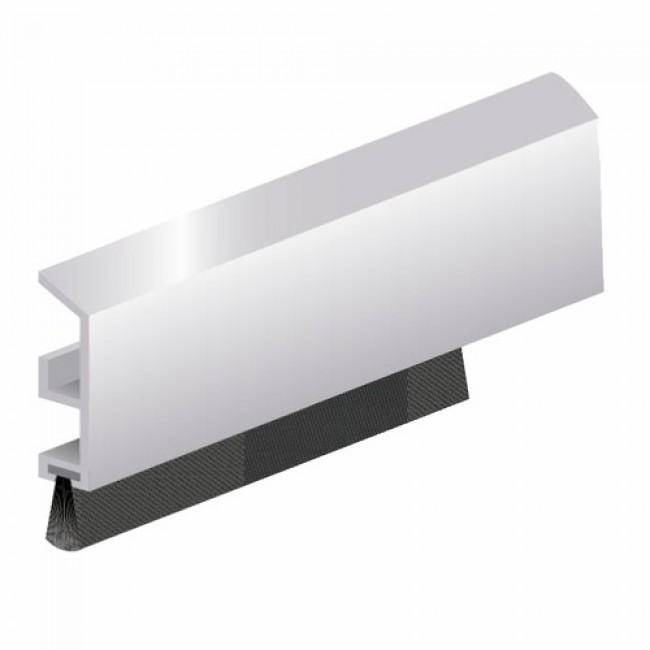 Joint isolant bas de porte, profilé ADS-B avec joint brosse en applique ELLEN