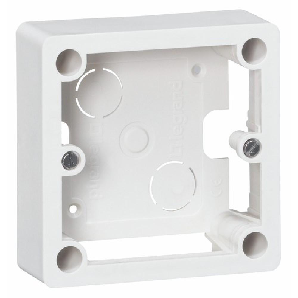 cadre en saillie 1 poste pour pose de prise ivoire legrand bricozor. Black Bedroom Furniture Sets. Home Design Ideas