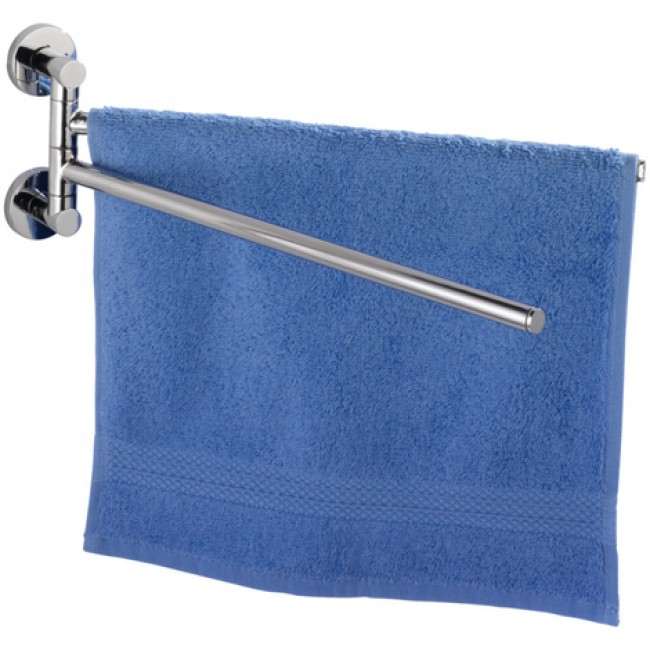Porte-serviettes à 2 bras mobiles- fixer au mur -  Elegance -Power Loc WENKO