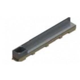 Caniveau avec couvertures à fente - acier galvanisé - Hexaline 100 ACO PASSAVANT