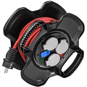 Enrouleur de câble - 3 prises et 2 ports USB - X-GUM BRENNENSTUHL