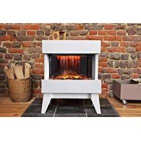 Foyer électrique Vidrio avec flamme 3D visible à 180° CHEMIN' ARTE