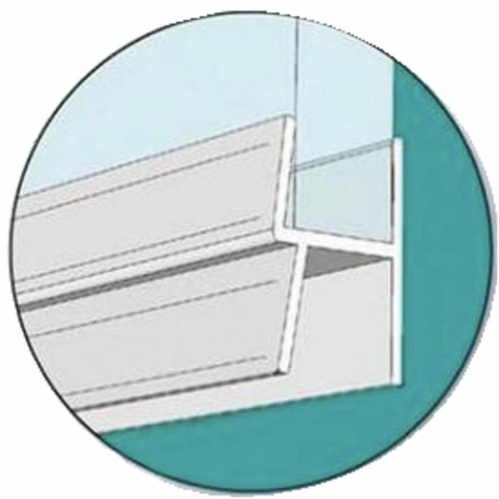 joint bas double l vre pour porte de douche longueur 1 m geb bricozor. Black Bedroom Furniture Sets. Home Design Ideas