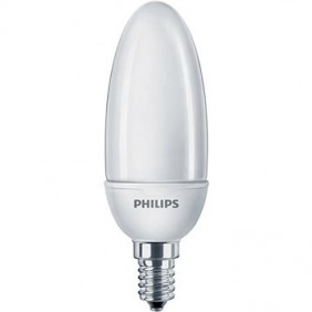 Lampe fluocompacte Softone ESaver Flamme 6Y - culot E14 PHILIPS