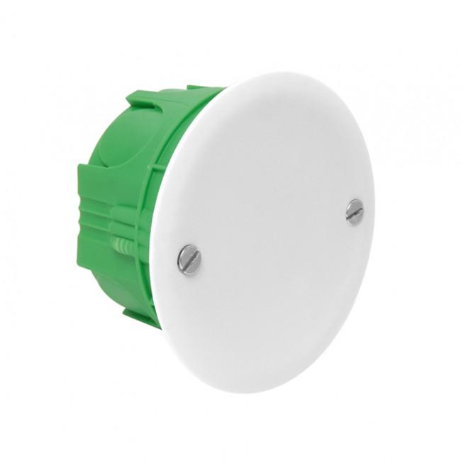 Boite d'encastrement de maçonnerie avec couvercle D67/P40 vert DEBFLEX