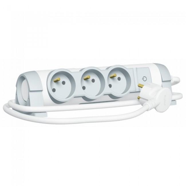 Multiprise pivotante avec interrupteur- cordon 3m - Confort LEGRAND