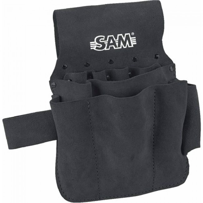 Sacoche d'outils en cuir - bandeau d'accroche ceinture - 422-CZ SAM OUTILLAGE