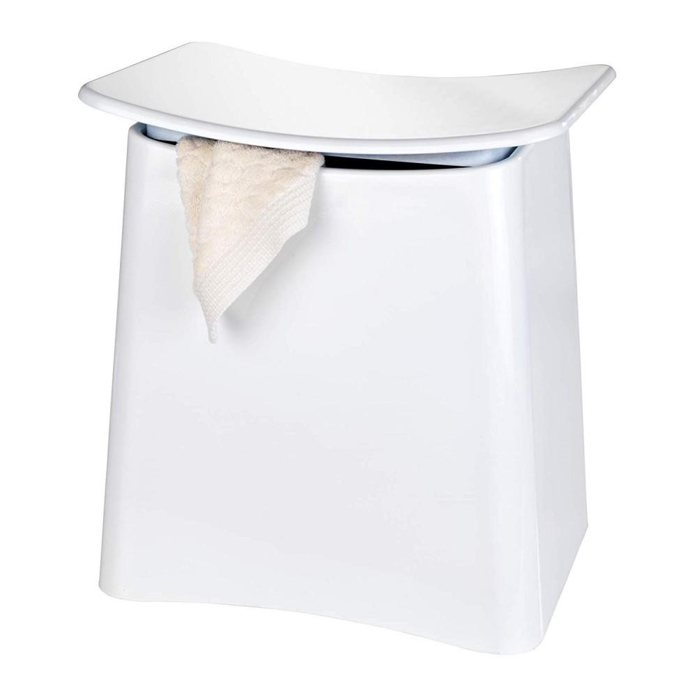 Panier À Linge Original tabouret/panier à linge design pour salle de bain - abs blanc wenko