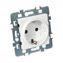 Mécanisme 2P+T schuko + cache + support métal - Casual DEBFLEX