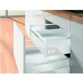 Kit tiroir à l'anglaise avec tringles - hauteur 144 mm - blanc HETTICH