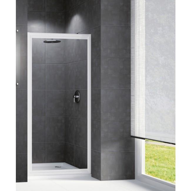 Porte douche pivotante verre transparent Riviera G - 78 à 82 cm NOVELLINI