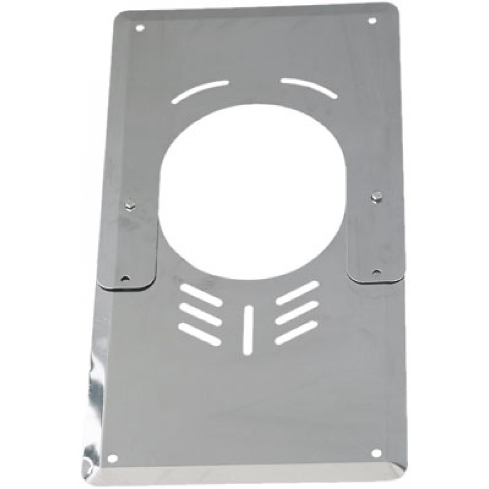Plaque de finition basse inox ventil e ten bricozor for Plaque de finition poele