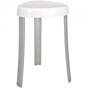 Tabouret pour salle de bain design moderne pieds aluminium assise ABS WENKO