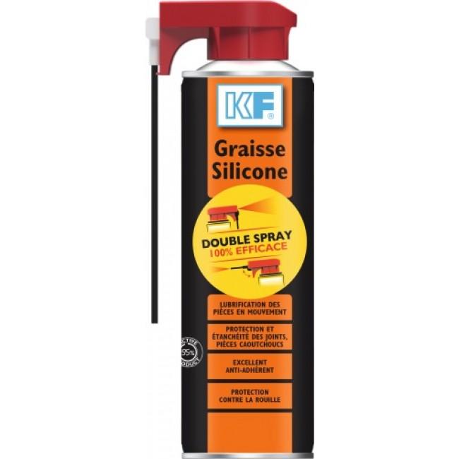 Graisse Silicone - translucide - diffuseur double Spray - aérosol KF