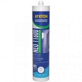 Mastic silicone neutre - pour joints de menuiserie - 11600 AYRTON