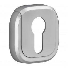 Rosaces pour poignée de porte - clé I - chromé velours - la paire - Vercy VACHETTE