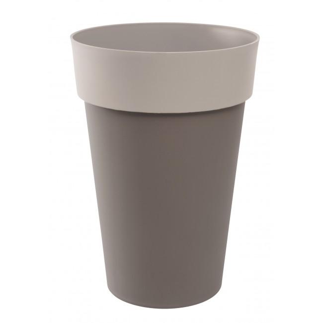 Pot rond taupe moka  -  67 litres - Style 13687 EDA PLASTIQUES