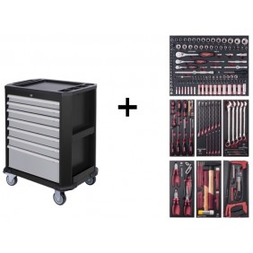 Servante d'atelier 7 tiroirs 189 outils COMPLETO EVA3 - P207 KRAFTWERK
