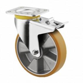 Roulette pivotante - à blocage - platine - charges lourdes - type 4687 TENTE
