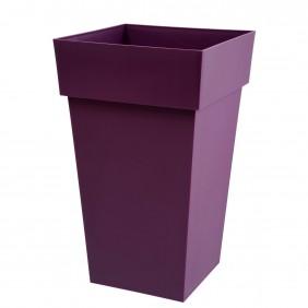 Pot carré haut prune - 39 x 39 cm - 62 litres - Toscane 13635 EDA PLASTIQUES