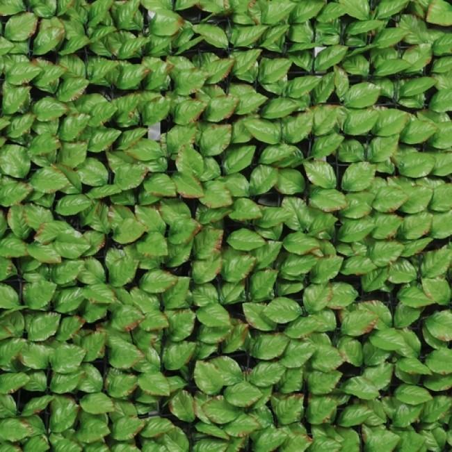 Haie artificielle feuilles de rosier + 12 attaches JET7GARDEN