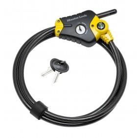 Câble antivol à clé - en acier tressé - Python MASTERLOCK