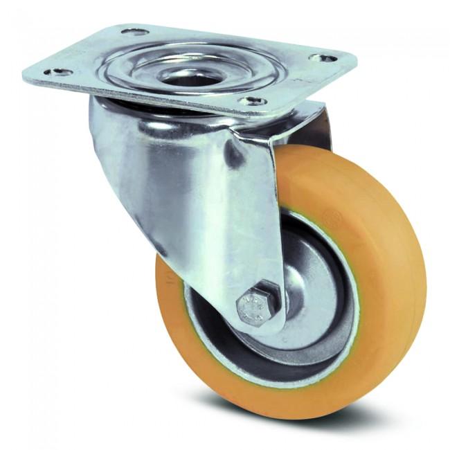 Roulette pivotante inox - haute température - platine - ø 100 mm - Alpha TENTE