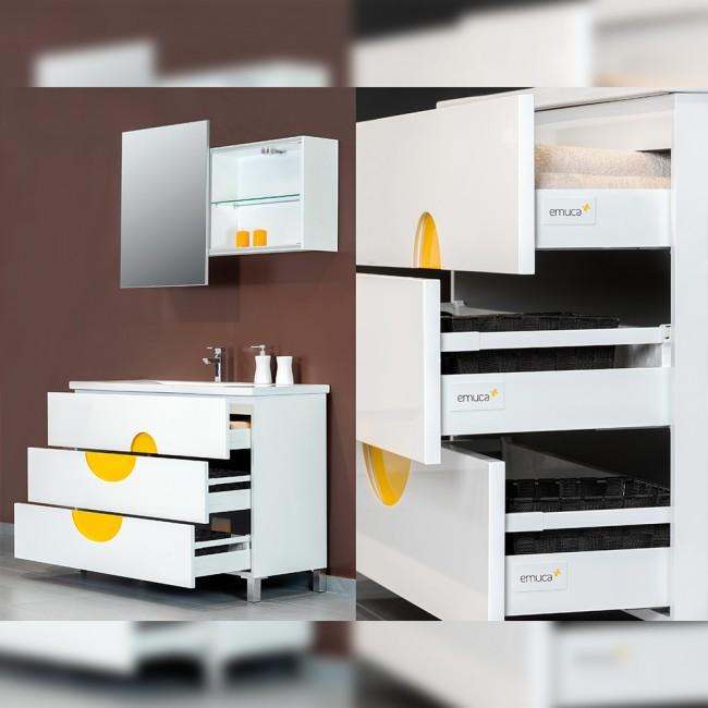 kit tiroir vantage q hauteur 83 mm blanc emuca bricozor. Black Bedroom Furniture Sets. Home Design Ideas