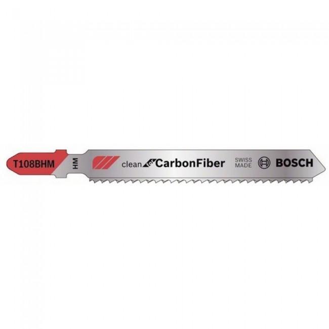 Lame de scie sauteuse bi-métal pour fibre de carbone/verre-T 108 BHM BOSCH