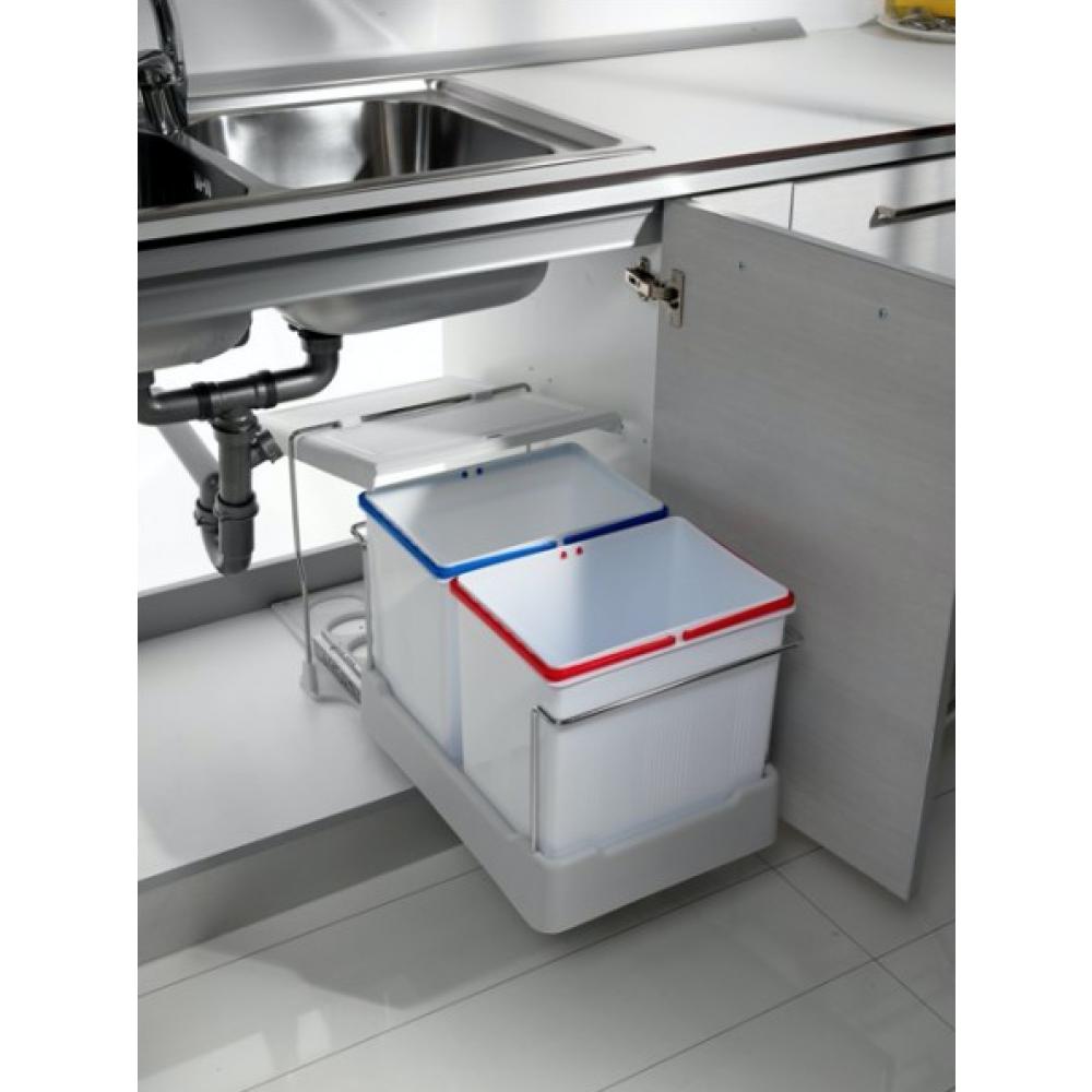 Wesco Poubelle Cuisine Installation à Partir De 30 cm Sous Armoire 2x15 L küchenülleimer 515264