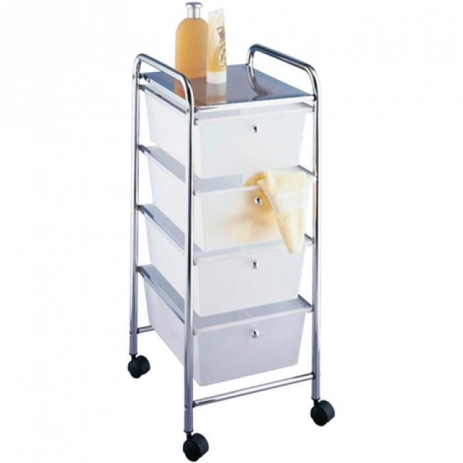 Desserte à roulette pour salle de bain - 4 tiroirs WENKO