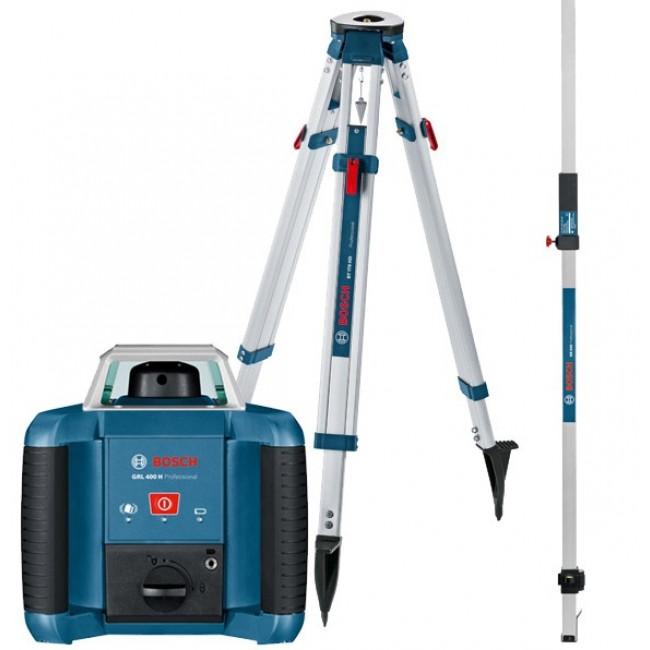 Laser rotatif GRL 400 H + cellule de réception + trépied + mire BOSCH