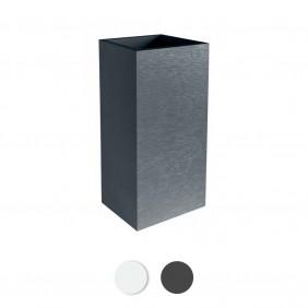 Pot carré - hauteur 80 cm - contenance 31 litres - Graphit EDA PLASTIQUES