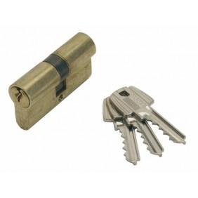Cylindre double TE-5 sur passe général - laiton poli TESA Sécurité