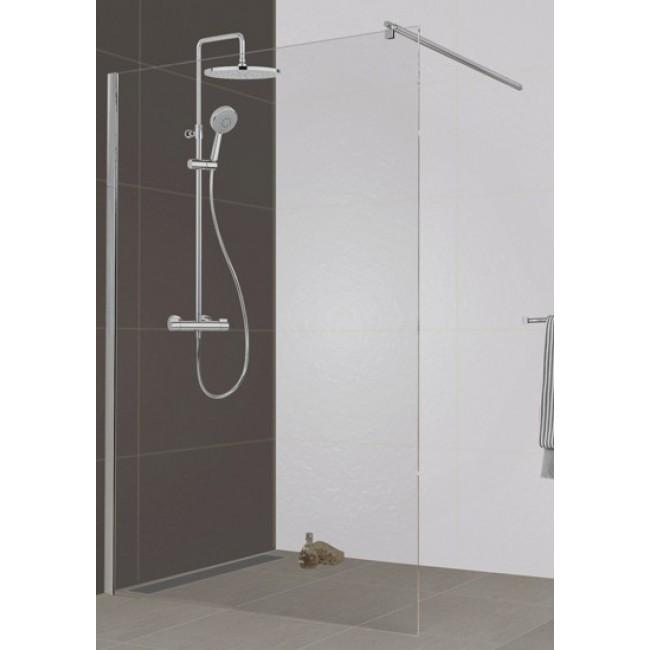 paroi de douche l 39 italienne open 2 verre transparent 120 cm leda bricozor. Black Bedroom Furniture Sets. Home Design Ideas