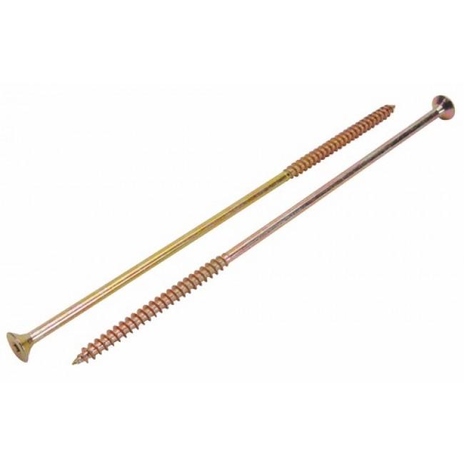 Vis à bois Rafale grande longueur pour charpente, tête fraisée