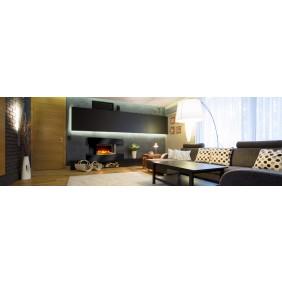 Cheminée Lounge Medium - Flamme 3D - Noire ou Blanche CHEMIN' ARTE