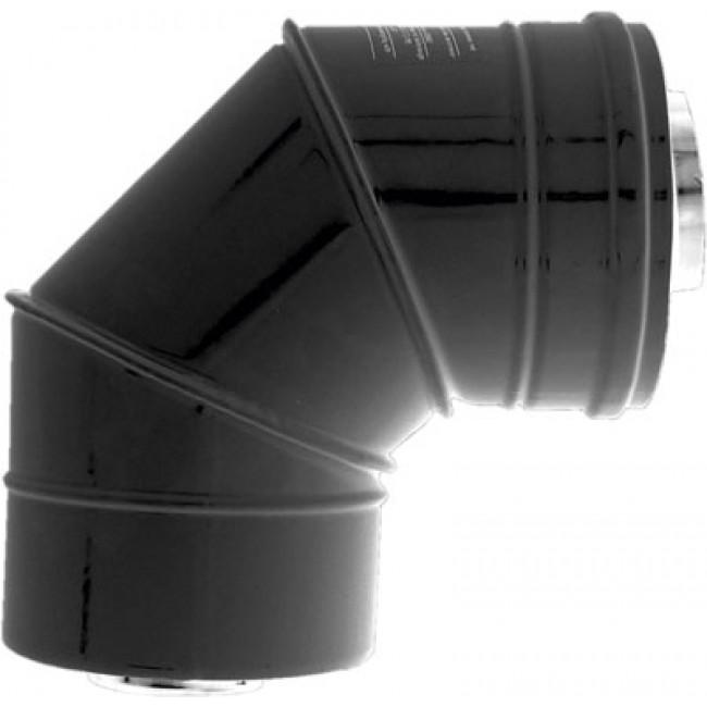 Coude à 87° pour poêle à granulés étanche - diamètre 80x125 TEN