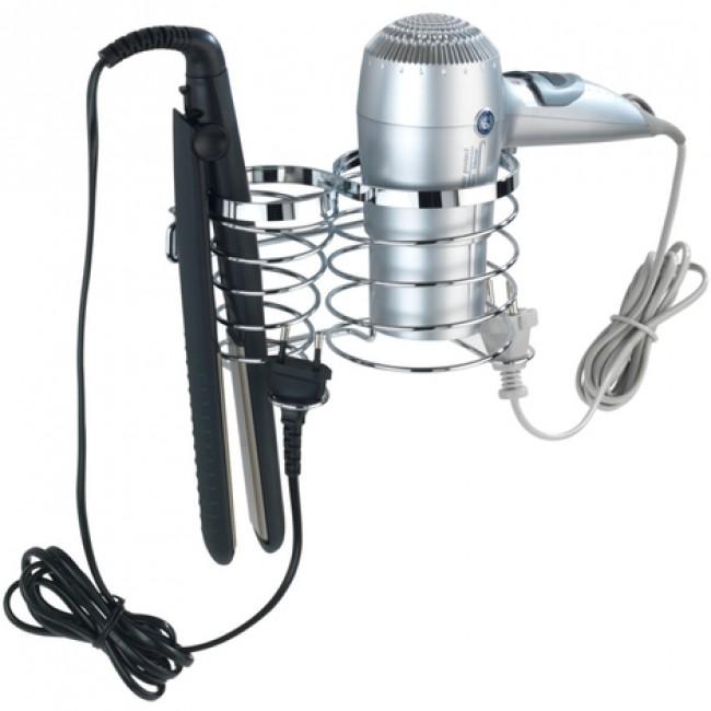Support sèche cheveux et fer à lisser - porte câble intégré - premium WENKO