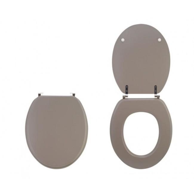 abattant wc sur cuvette standard taupe mat color line. Black Bedroom Furniture Sets. Home Design Ideas