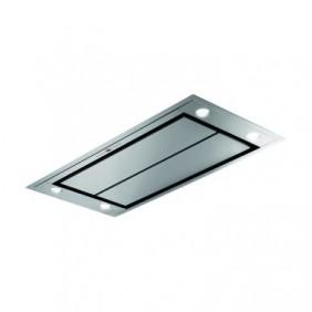 Hotte de plafond plate - 100 cm - Verre blanc ou Inox - Azzura FABER
