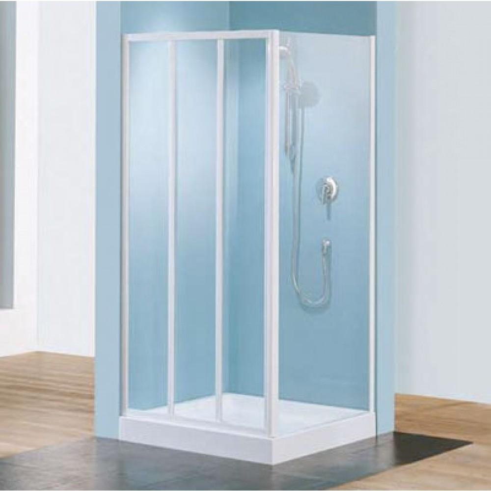 porte coulissante 3 panneaux verre transparent riviera